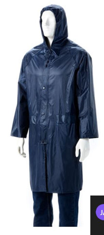 RUBBERISED RAINCOAT NAVY