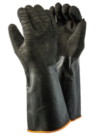 INDUSTRIAL RUBBER ROUGH GLOVES - H2-40