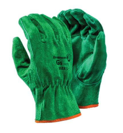 GREEN DRIVER COWHIDE GLOVES - G5
