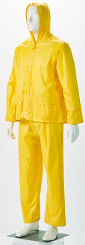 RUBBERISED RAIN SUIT YELLOW