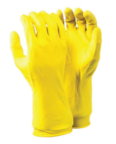 YELLOW HOUSEHOLD SOLID RUBBER GLOVES - 10143/Y