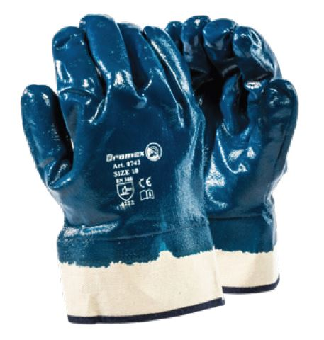 BLUE OPEN CUFF NITRILE GLOVES - 0742/10