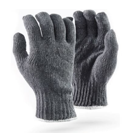 COTTON SEAMLESS GLOVES - GCOT/GREY 7GG