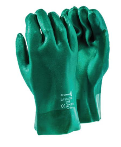 GREEN PVC RANGE GLOVES - GPVC/27/HG