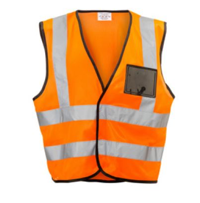 REFLECTIVE VEST ZIP ID ORANGE