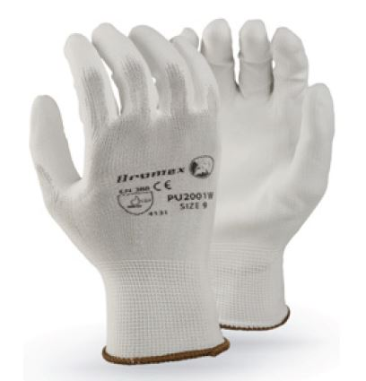 PU COATED WHITE GLOVES - PU2001
