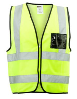 REFLECTIVE VEST ZIP LIME