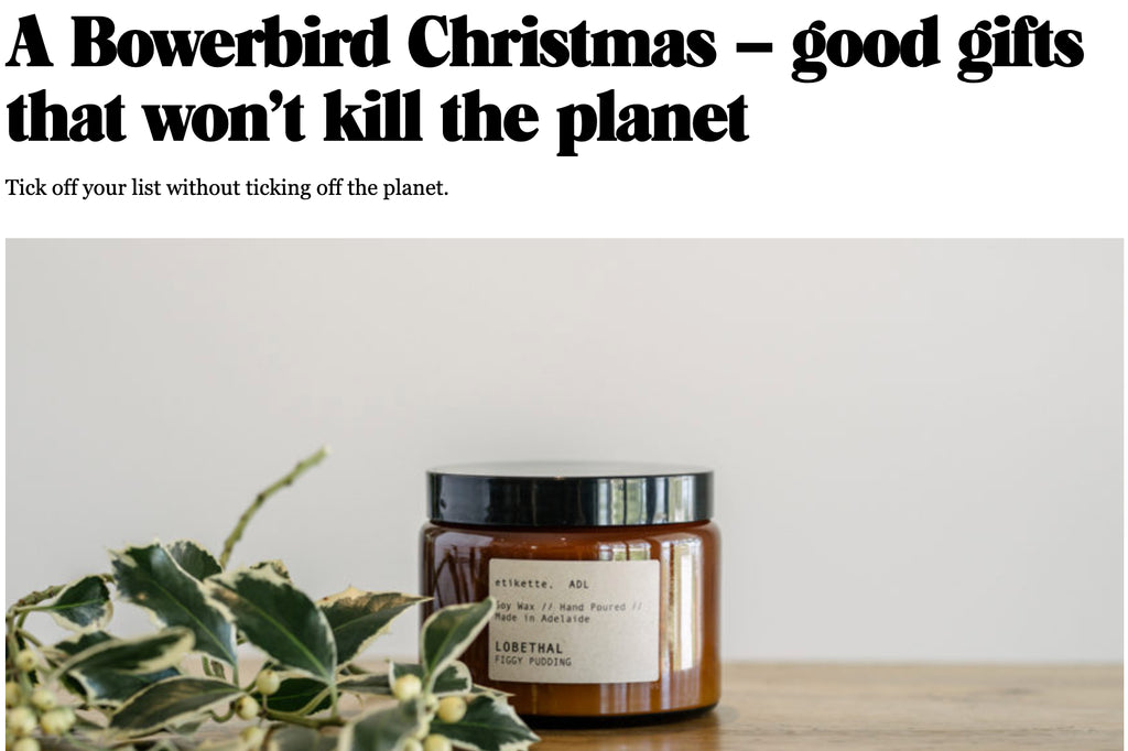 Article Feature in CityMag  //  Good gifts that won't kill the planet