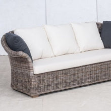 Load image into Gallery viewer, SALE - Wicker Sofa 3 Seater 'Elegant' - White Linen