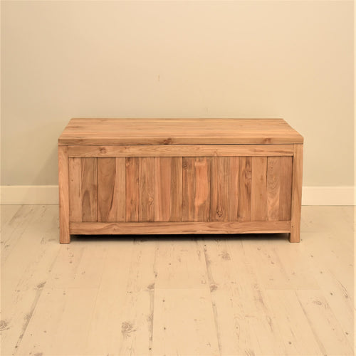 Reclaimed teak blanket box.