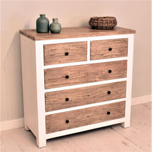 Load image into Gallery viewer, Reclaimed Pine Bude Range Chest of Drawers with 5 Drawers
