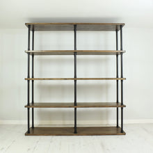 Load image into Gallery viewer, Vintage industrial style shelving unit 180cm wide.