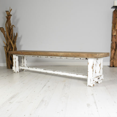 Reclaimed Pine Bench - Farmhouse 205cm