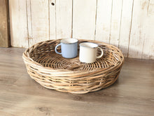 Load image into Gallery viewer, Natural Wicker Round Tray - Small