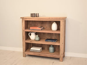 Reclaimed teak small bookcase.