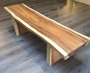 200cm Suar Live Edge Dining Set with Benches (Seats 6)