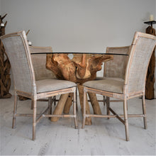 Load image into Gallery viewer, Reclaimed Teak Root Round Dining Table 120cm