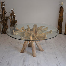 Load image into Gallery viewer, Reclaimed Teak Root Round Dining Table 150cm