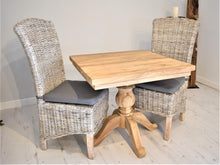 Load image into Gallery viewer, Square Reclaimed Teak Dining Set with 2 Whitewash Dining Chairs