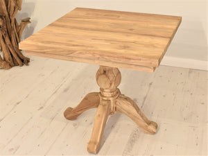 Reclaimed Wood Dining Table Square - 80cm