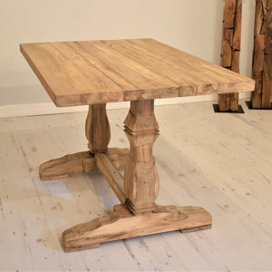 Reclaimed Teak Dining Table Rectangular - 120cm