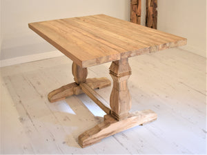 Reclaimed Wood Dining Table - Rectangular - 120cm