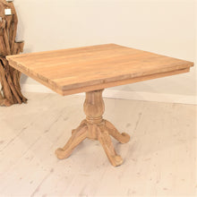Load image into Gallery viewer, Square Reclaimed Teak Dining Set with 4 Whitewash Kubu Chairs