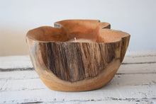 Load image into Gallery viewer, Rustic Wooden Candle Bowl