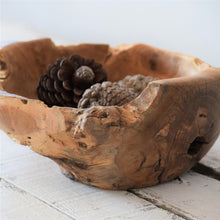 Load image into Gallery viewer, Reclaimed Teak Root Fruit Bowl