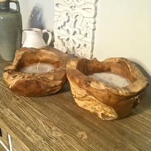 Load image into Gallery viewer, Reclaimed Wood Candle Bowl - Small