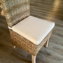 Load image into Gallery viewer, Natural Kubu chair with natural cushion.