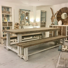 Load image into Gallery viewer, 240cm Farmhouse Dining Set with Benches (Seats 8)