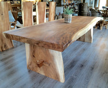 Load image into Gallery viewer, 250cm Natural Live Edge Table - Refectory Style Leg Table Only