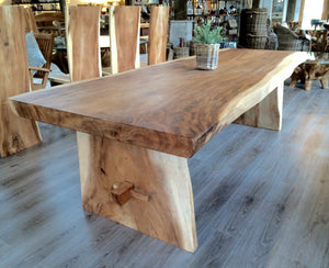 250cm Natural Live Edge Table - Refectory Style Leg Table Only