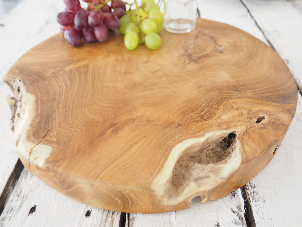 Reclaimed Wood Chopping Board - Round - Small