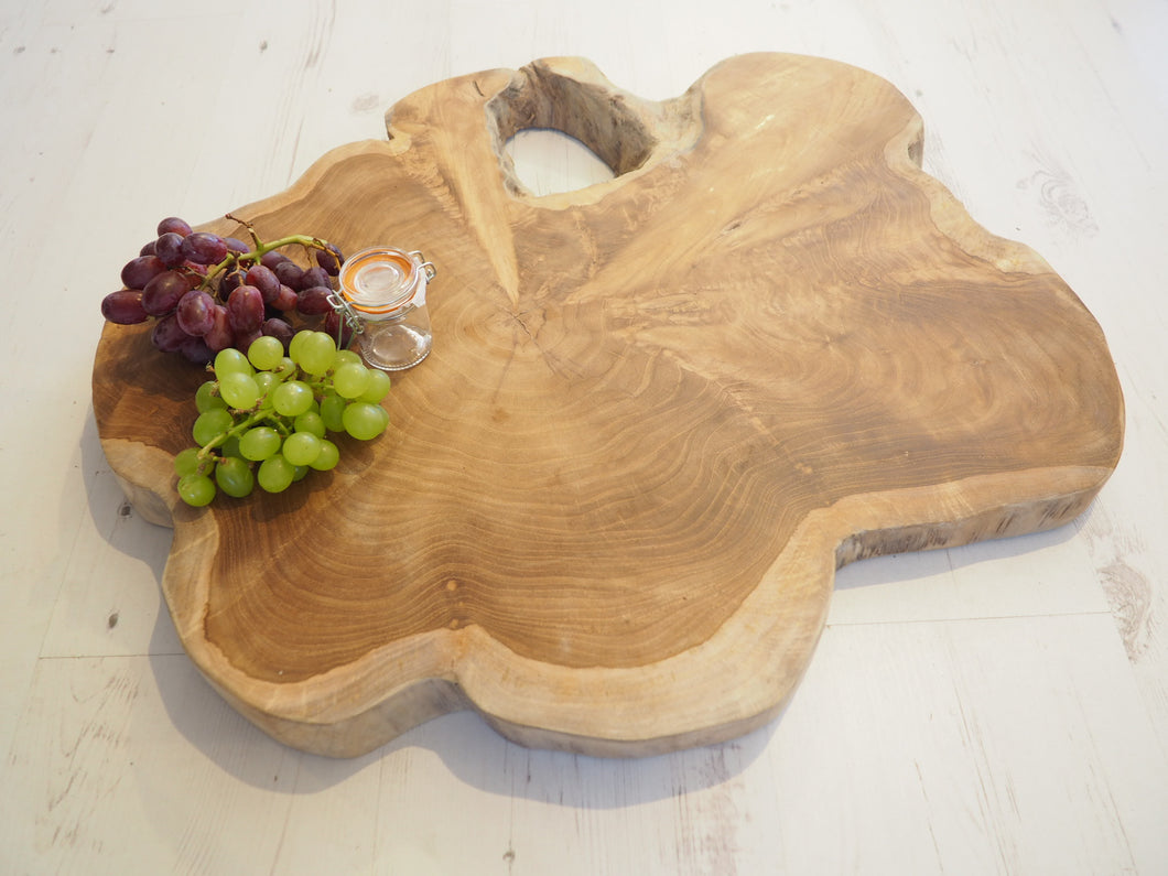Reclaimed Natural Wood Chopping Board - Large