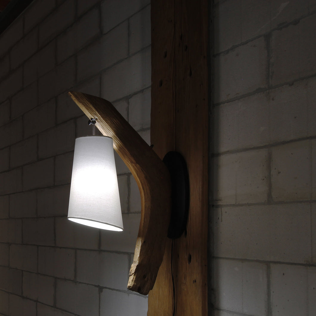 Reclaimed Wood Wall Lamp - Myles