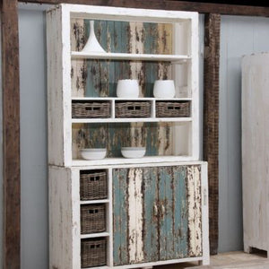 Vintage Recycled Pine Dresser With Soft Colours