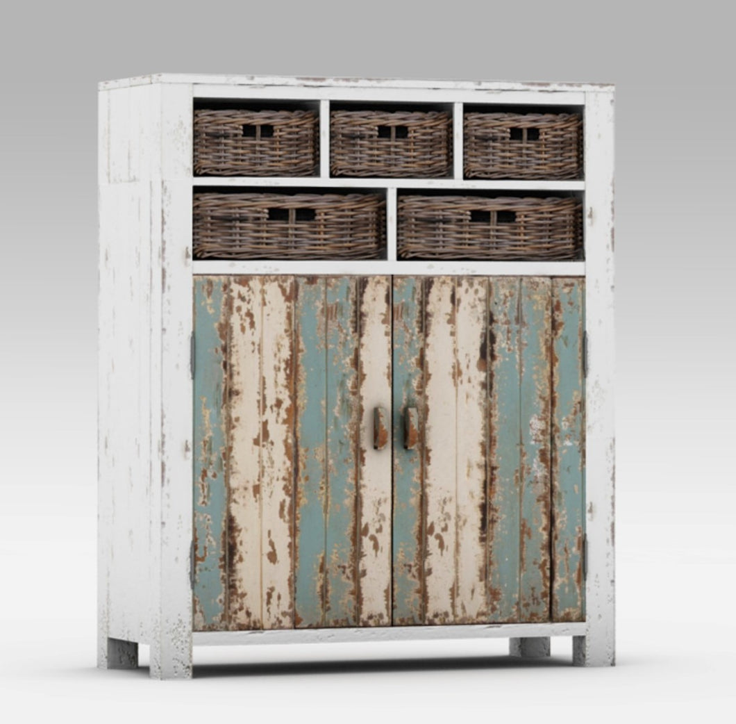 Colourful Rustic Cabinet