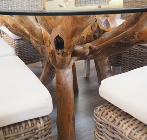 Teak Root Oval Dining Table 140x100cm