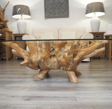 Load image into Gallery viewer, Teak Root Oval Coffee Table - 150x100cm