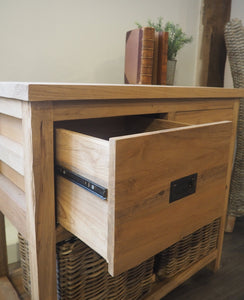 Wooden Storage Console Table - 3 Drawer