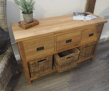 Load image into Gallery viewer, Wooden Storage Console Table - 3 Drawer