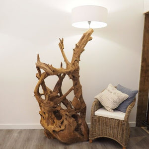 Rustic Wood Floor Lamp - Tall
