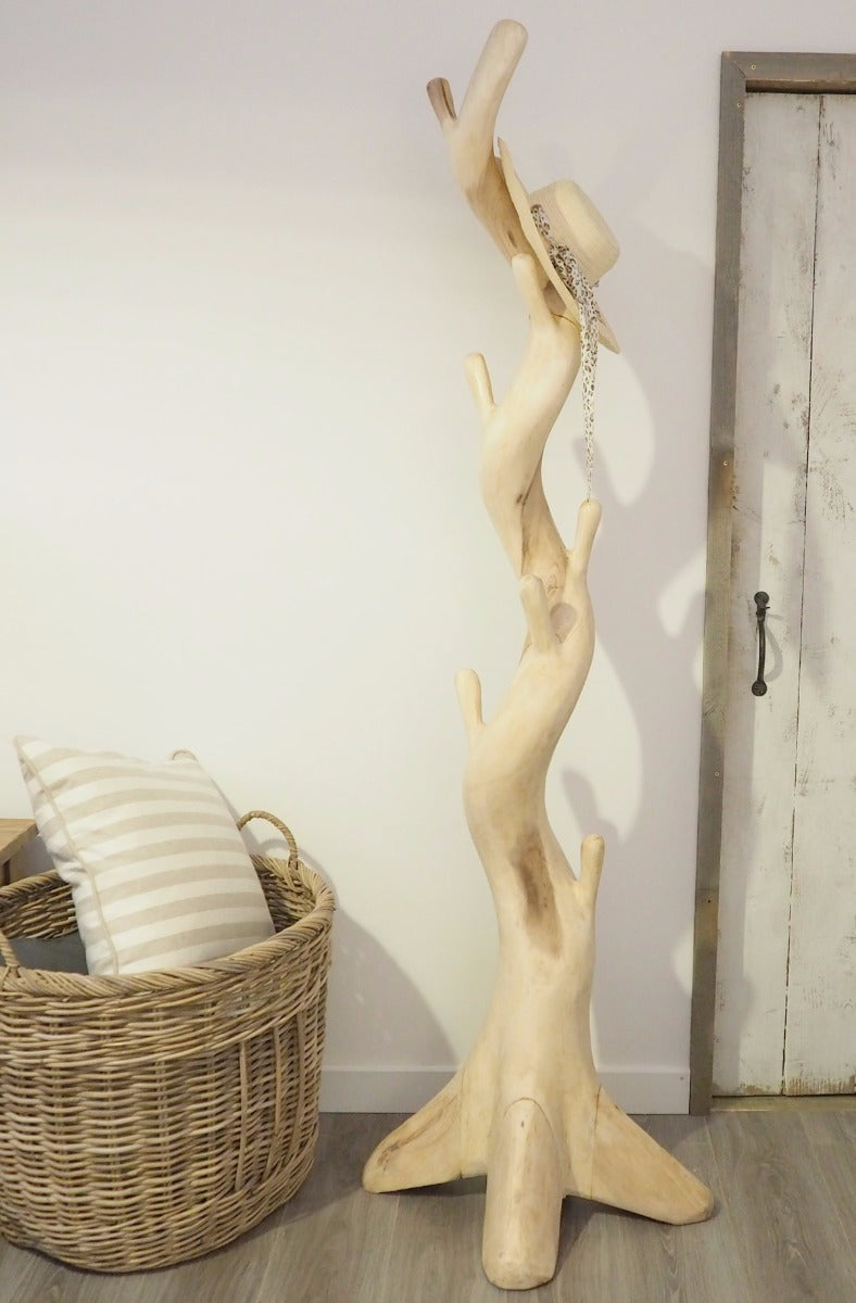 Natural Wood Hanging Coat Stand