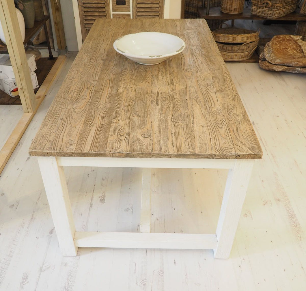 Reclaimed Pine Cottage Style Dining Table - 240cm