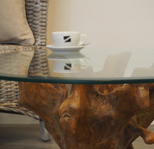 Load image into Gallery viewer, Teak Root Round Coffee Table - 80cm