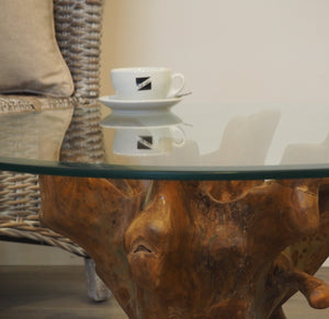 Teak Root Round Coffee Table - 80cm