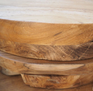 Reclaimed Wood Chopping Board - Round - Medium