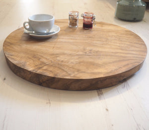 Reclaimed Wood Chopping Board - Round -  Large